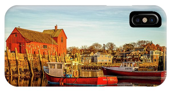 Low Tide And Lobster Boats At Motif #1 IPhone Case