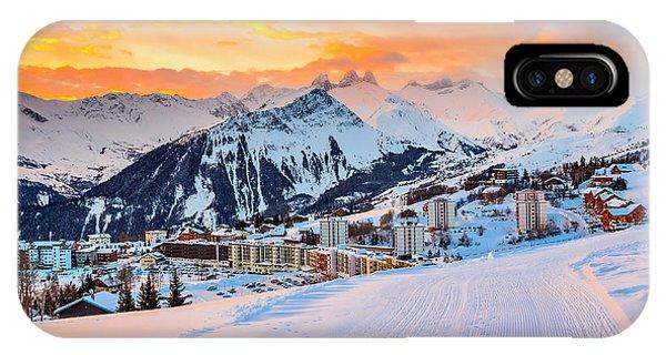 Hotel iPhone Case - Majestic Winter Sunrise Landscape And by Gaspar Janos
