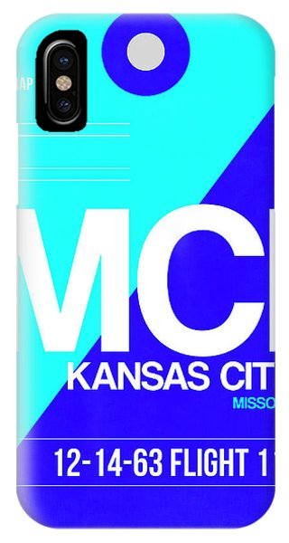 Missouri iPhone Case - Mci Kansas City Luggage Tag I by Naxart Studio