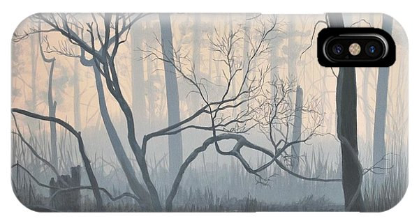 Misty Hideaway - Wood Duck IPhone Case