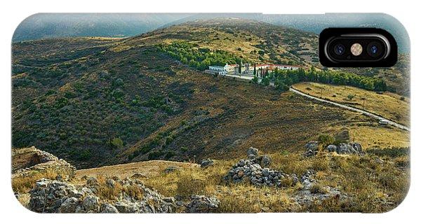 IPhone Case featuring the photograph Monastery Agion Anargiron Above Argos by Milan Ljubisavljevic
