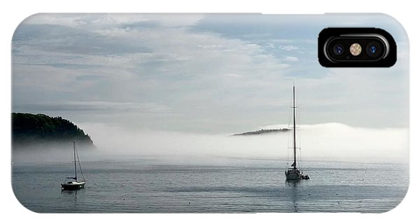 Dick Goodman iPhone Case - Morning Mist On Frenchman's Bay by Dick Goodman