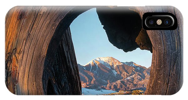 Sangre De Cristo iPhone Case - Mount Herard Framed, Great Sand Dunes by Tim Fitzharris