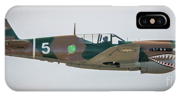 IPhone Case featuring the photograph P-40 Warhawk by Tom Claud