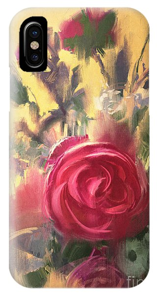 Shrub iPhone Case - Painting Showing Bouquet Of Beautiful by Tithi Luadthong