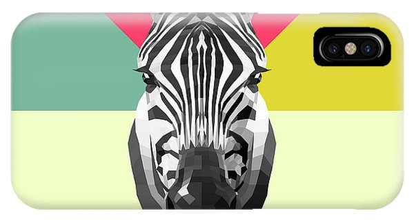 Lynx iPhone Case - Party Zebra  by Naxart Studio