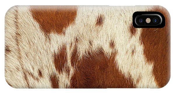 IPhone Case featuring the photograph Pattern Of A Longhorn Bull Cowhide. by Rob D Imagery