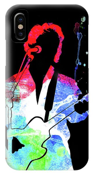 Rock And Roll Art iPhone Case - Paul Simon Watercolor by Naxart Studio