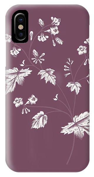 Bouquet iPhone X Case - Phacelia Purple Flower by Naxart Studio