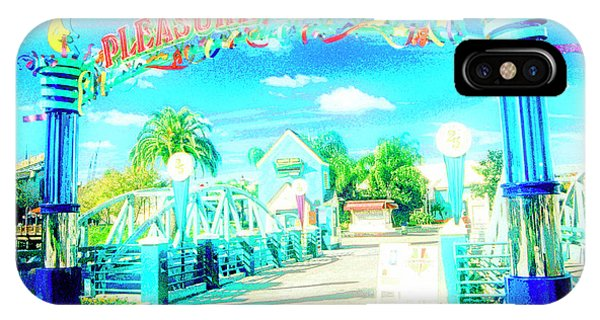 Pleasure Island Sign And Walkway Downtown Disney IPhone Case