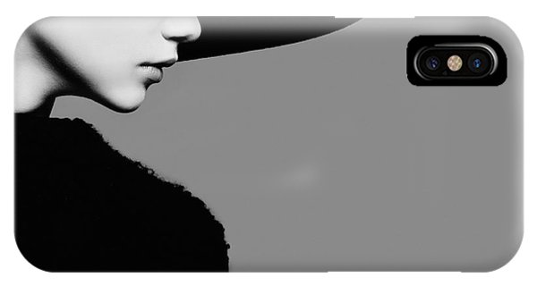 Portrait Of Beautiful Girl In Hat In Phone Case by Yuliya Yafimik