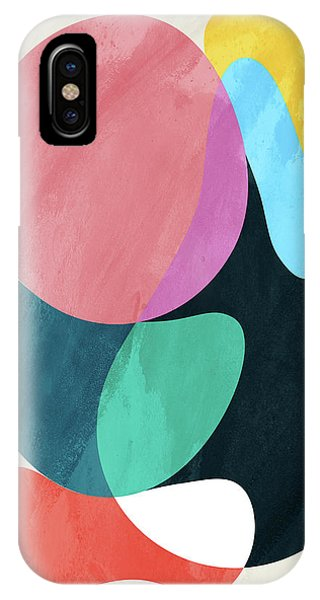 Rectangular iPhone X Case - Positive Colors 6 by Mark Ashkenazi