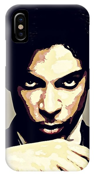 b6d00eb1a4 The Artist Formerly Known As Prince iPhone Case - Prince Portrait Painting  Dipinto Malerei Cadre Marco