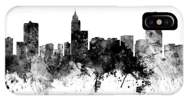 North Carolina iPhone Case - Raleigh North Carolina Skyline Panoramic by Michael Tompsett