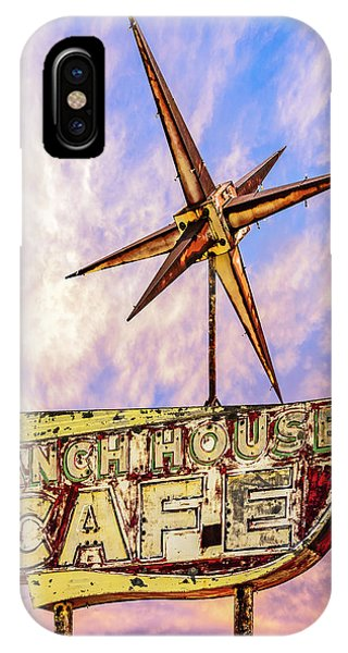IPhone Case featuring the photograph Ranch House Cafe by Lou Novick