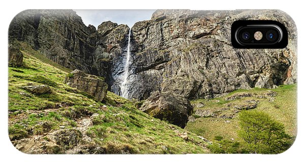 IPhone Case featuring the photograph Raysko Praskalo Waterfall, Balkan Mountain by Milan Ljubisavljevic