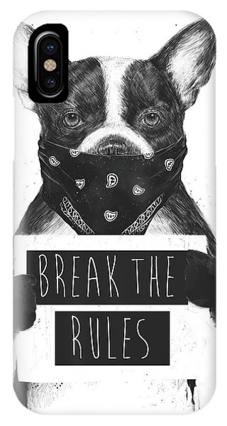 French iPhone Case - Rebel Dog II by Balazs Solti