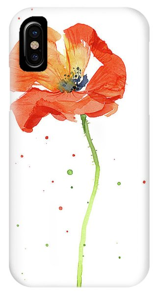 Poppies iPhone Case - Red Poppy Flower by Olga Shvartsur