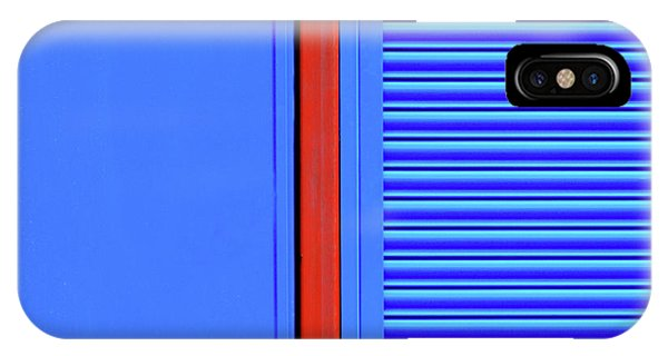 Blue With Red Stripe IPhone Case