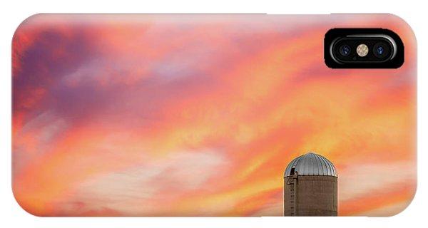 Silo iPhone Case - Rural Skies by Todd Klassy