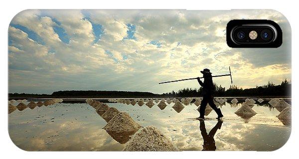 Salt Water iPhone Case - Salt Farm In Eastern, Thailand by Isarescheewin