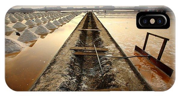 Salt Water iPhone Case - Salt Fields, Phetchaburi, Thailand by Isarescheewin