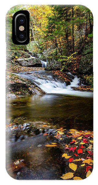Sandwich Notch Road Waterfall New Hampshire IPhone Case