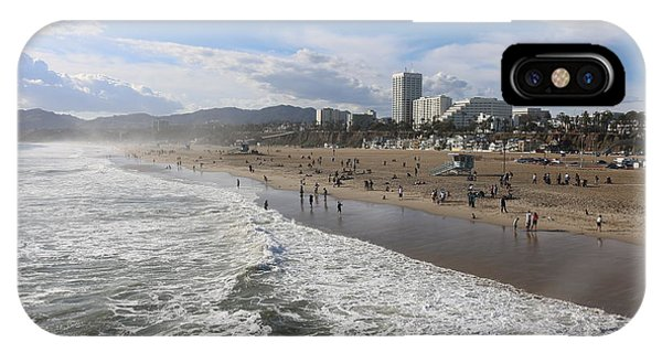 Santa Monica Beach, Santa Monica, California IPhone Case