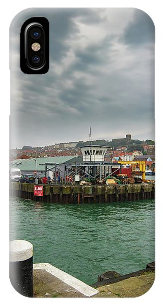Fishing Boat iPhone Case - Scarborough Harbour by Smart Aviation