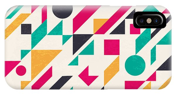 Form iPhone Case - Seamless Abstract Pattern With by Magnia