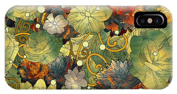 Seamless iPhone Case - Seamless Pattern Of Colorful Flowers by Tithi Luadthong