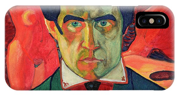 Russian Impressionism iPhone Case - Self Portrait, 1910 by Kazimir Malevich