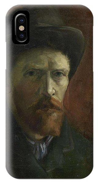 Van Gogh Museum iPhone Case - Self-portrait With Felt Hat by Vincent Van Gogh