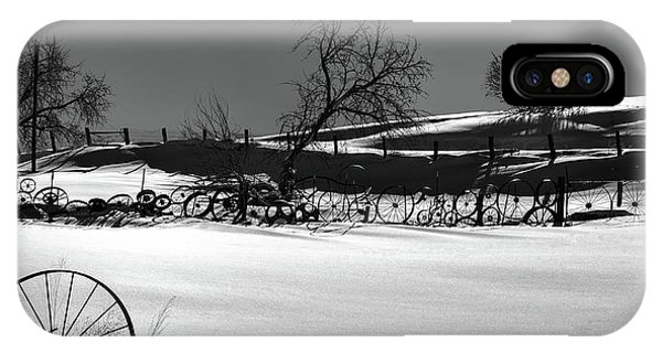 iPhone Case - Shadows In The Snow by David Patterson