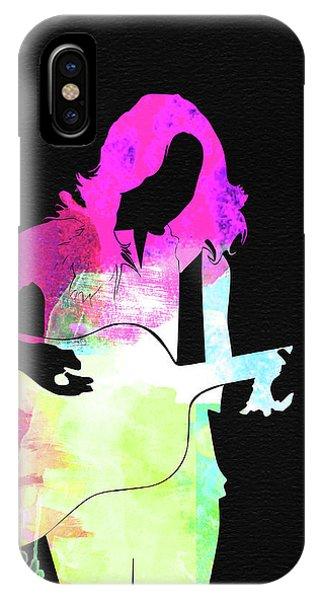 Crow iPhone Case - Sheryl Crow Watercolor by Naxart Studio
