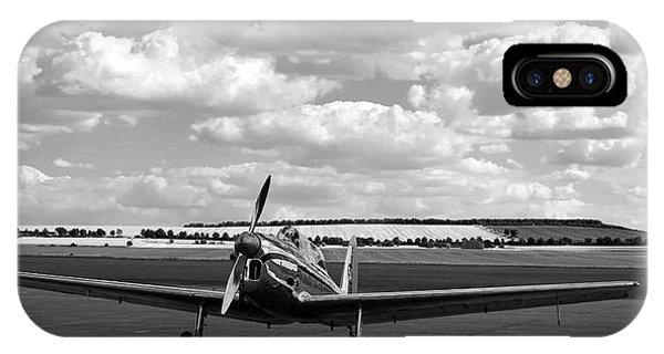 Silver Airplane Duxford England IPhone Case