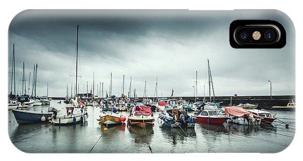 Fishing Boat iPhone Case - Silver Rain by Evelina Kremsdorf