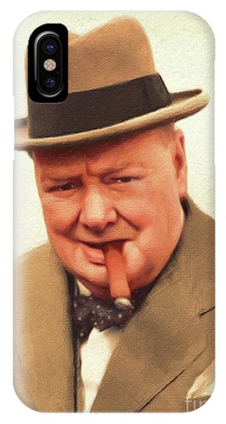 Prime Minister iPhone Case - Sir Winston Churchill, Prime Minister Of Great Britain by John Springfield