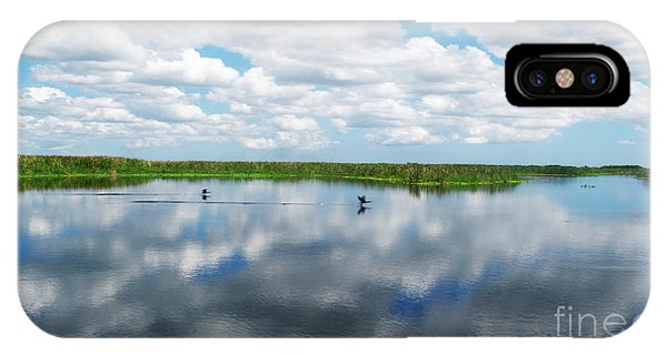 Skyscape Reflections Blue Cypress Marsh Near Vero Beach Florida C6 IPhone Case