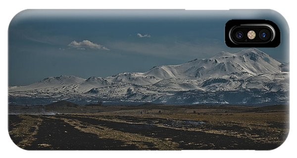 Snow-covered Mountains In The Turkish Region Of Capaddocia. IPhone Case
