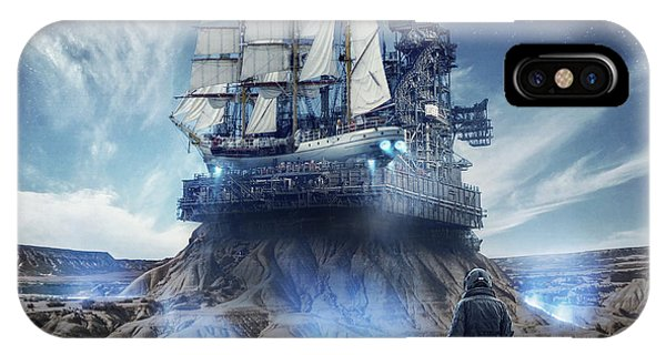 Ship iPhone Case - Spaceship by Zoltan Toth