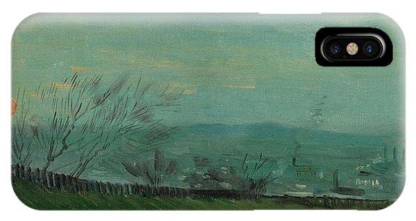 Van Gogh Museum iPhone Case - Sunset In Montmartre by Vincent van Gogh