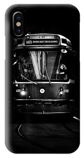 The 505 Dundas Streetcar Toronto Canada IPhone Case