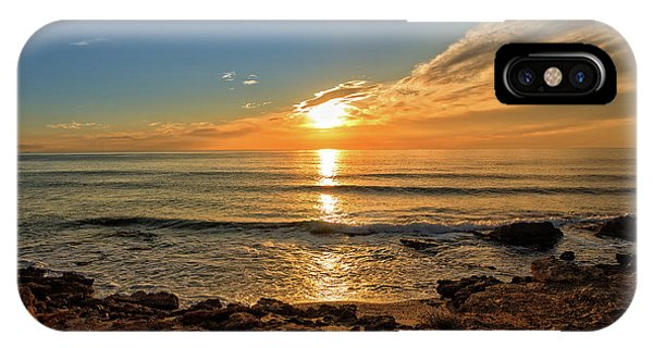 The Calm Sea In A Very Cloudy Sunset IPhone Case