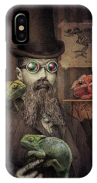 Illustration iPhone Case - The Chameleon Collector by Eric Fan