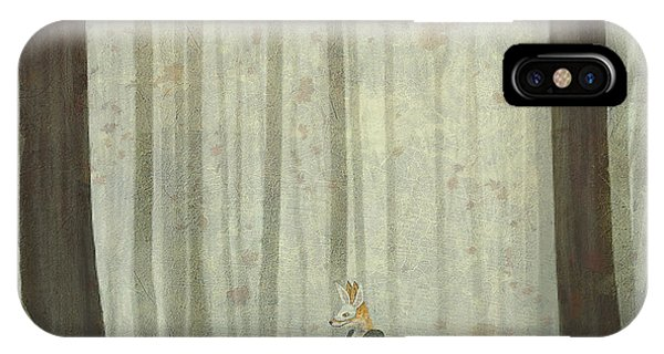 Freeze iPhone Case - The Fox In A Wood To Hunt On A Hare by Natalia maroz