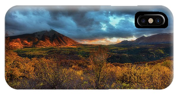 IPhone Case featuring the photograph The Last Light by John De Bord