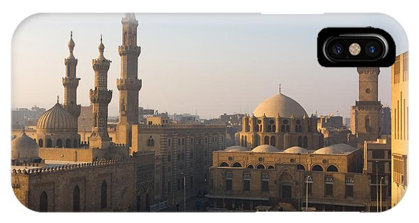 Egyptian iPhone X Case - The Minarets Of Cairo, Egypt by Sunsinger