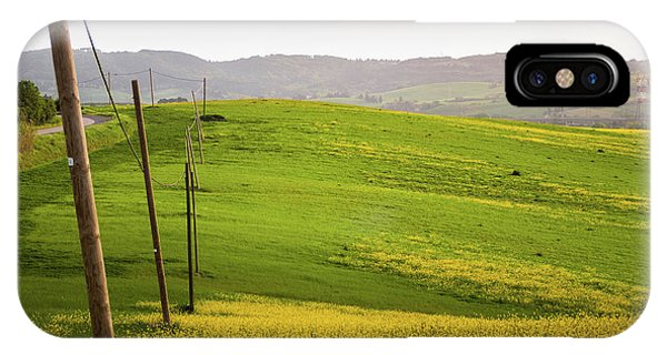 Tuscan Landscapes. Hills In The Spring IPhone Case