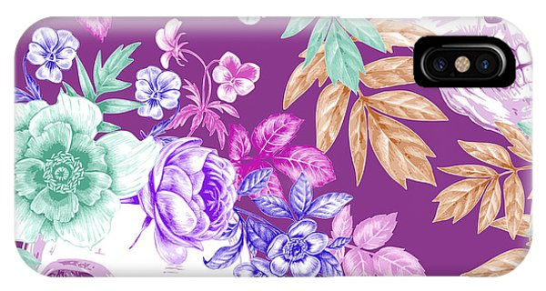 Death iPhone Case - Vector Seamless Background. Wreaths Of by Mamita